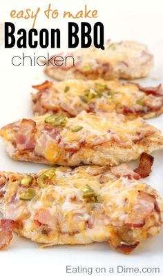 Easy Bacon BBQ Chicken recipe.  Who here loves bacon? What kind of question is that? Doesn't everyone love bacon? Then you have to try this recipe!