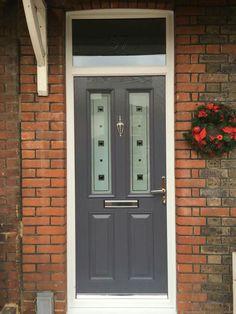 Front door in slate grey from www.xtremedoor.co.uk