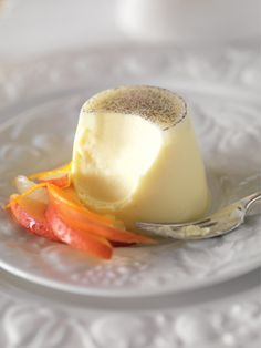 Orange & Vanilla Bean-scented Panna Cotta