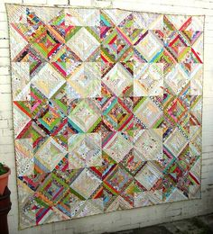 Amazing Scrappy string Star Quilt.