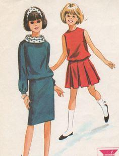 McCalls Pattern 7424  Girls 2 Piece Dress  1964 by allpatterns, $10.95