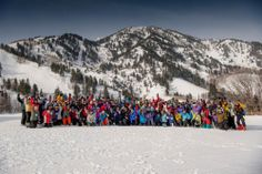 Slopes' changing demographics: More senior skiers.  This February 2013 photo shows members of the 70 + Ski Club, a group of skiers age 70 and older, at Snowbasin Resort, Huntsville, Utah