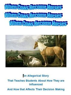 This is an allegorical story that teaches students about how they are influenced and how that affects their decision making. This includes a Lesson Plan with a student worksheet. A teacher worksheet is provides with answers to student questions. Teacher Worksheets, Teacher Resources, Curriculum, Homeschool, School Lessons, Healthy Mind, Decision Making, Social Studies, Language Arts
