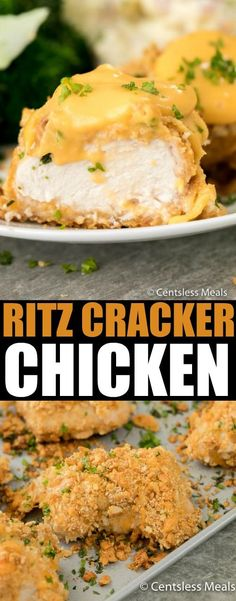 I love choosing chicken breast as the heart of my meal because it is so versatile, tender and delicious! The only thing better than a chicken breast is this Ritz Cracker Chicken with a cheesy crispy coating and an easy homemade cheese sauce.