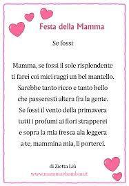 Risultati immagini per poesie per la mamma brevi