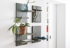object of desire minimalist wooden wall shelves from germany