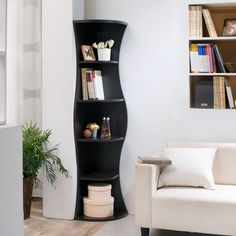 modern corner furniture. add a curvy appeal to any corner with the collins bookcase this walnut finished furniture outletonline furniturefurniture ideas contemporary modern