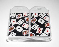 Luggage Tags Set of 2 Playing Cards by BostonLinz on Etsy