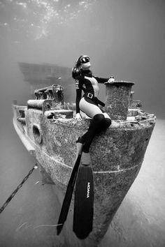 Sur l'épave du USS Kittiwake...