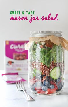 Inspired by the fresh and naturally sweet flavors of your favorite Curate snack bars, this mason jar salad is perfect as an on-the-go summer lunch or picnic recipe. A sweet and tart berry vinaigrette complements fresh summer berries, creamy goat cheese, and hearty quinoa in this deliciously simple salad. Be sure to pack along a Curate Sweet and Tart bar for a well-balanced and healthy meal!