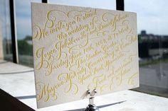 #Calligraphy #Letterpress #Invitations