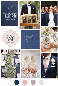 Blush and Blue Wedding Color Palette