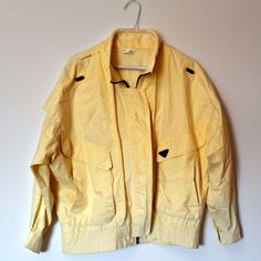 (587) Vintage 80s Jacket Playboy Lightweight Yellow - One Size, OS XL Extra  in Clothes, Shoes & Accessories, Vintage Clothing & Accessories, Men's Vintage Clothing | eBay!