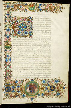 Literary, MS M.497 fol. 1r - Images from Medieval and Renaissance Manuscripts - The Morgan Library & Museum