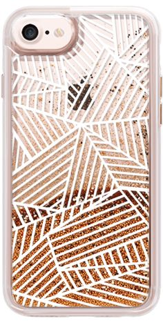Casetify iPhone 7 Glitter Case - Ab Lines White Transparent by Project M #Casetify