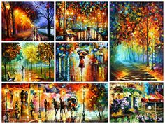 Surprise Painting — ORIGINAL Oil Painting On Canvas By Leonid Afremov; The Price 99 Dollars is ONLY if you buy TWO paintings with Third Free
