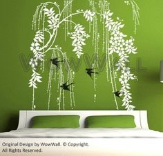 weeping willow decal... will look great in the dining room!