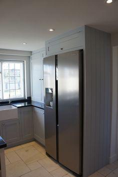 Traditional shaker style kitchen, housing an American fridge freezer!