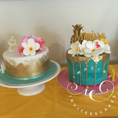 Hawaiian themed cakes, aloha!