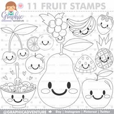 - Arts and Crafts Planner Stickers, Fruit Clipart, Fruit Coloring Pages, Fruits Images, Fruit Party, Journaling, Vinyl Crafts, Arts And Crafts Supplies, Digital Stamps