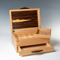 Quarter Sawn Sycamore and Ziricote Jewelry Box