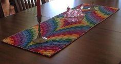 Rainbow Bargello Table Runner