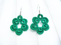 PDF Tutorial #Crochet Pattern Dangle Earrings by accessoriesbynez, $2.75