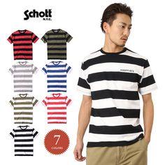 Schott ショット 3153013 ボーダー ポケットTシャツ
