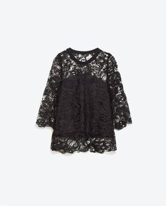 Image 5 of GUIPURE T-SHIRT from Zara
