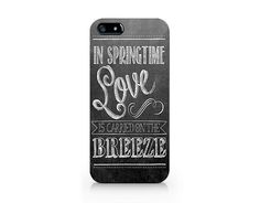 Text phone case, in springtime love iPhone 5 5S case, iPhone 4 4S case, Free shipping