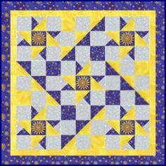 Spinning Star ... free pattern from Quiltpox