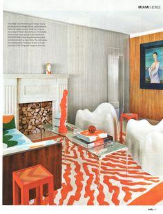 Doug Meyer interior in Belle Magazine. #Color #LivingRoom #interior