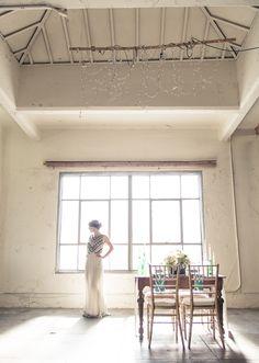 Dress: Free People | Bohemian Art Deco wedding | photo by Stephanie Collins | 100 Layer Cake