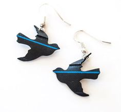 PearlReef - Bike Tube Bird Earrings  #SFEtsyCrush FLASH SALE! Today Only! #Etsy #SFetsy #XOXOSFETSY #BestofEtsy #coupons #bike #tire #upcycled #earrings #bird @SFetsy Team