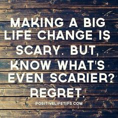 What if you tried something new and it worked? Live with no regrets.