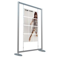 Freestanding Cable Poster Kit in portrait with acrylic poster pockets for a multi poster display. Easy installation with slot assembly. Poster Display, Point Of Sale, How To Attract Customers, Wardrobe Rack, Shoe Rack, Magazine Rack, Cable, Kit, Cabinets