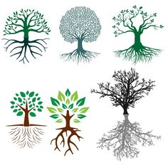 Tree Roots Cuttable Design SVG, DXF, EPS use with Silhouette Studio & Cricut, Vector Art, Heat Transfer Vinyl Digital Cutting Cut Files by CuttableSVG on Etsy https://www.etsy.com/listing/279256210/tree-roots-cuttable-design-svg-dxf-eps