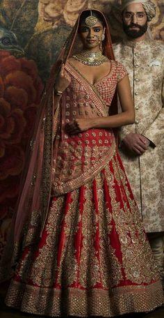 Sabyasachi Bridal Lehenga Cost Price With Worldwide Delivery Online. Shop Sabyasachi Mukherjee 2018 Collection at Dress Republic. Indian Wedding Fashion, Indian Wedding Outfits, Bridal Outfits, Indian Outfits, Indian Fashion, Bridal Dresses, Indian Clothes, India Wedding, Bridal Fashion
