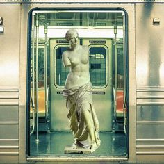 A playful series of unlikely situations involving the statue of Venus de Milo, David and many others. Collages, Food Sculpture, Greek Statues, Aesthetic Collage, Everyday Objects, Canvas Prints, Art Prints, Photomontage, Presents