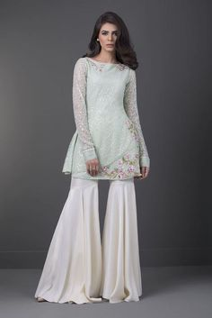 Show details for Raw silk gharara Trousers For Girls, Pants For Women, Vintage Dresses, Nice Dresses, Girls Dresses, Short Frocks, Pakistani Dresses Casual, Pakistani Suits, Indian Fashion Trends