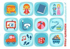 Kommunikaatiokortit | leikit I lapset | perhe | koti | arki | kalenteri | askartelu | paperi | paper | DIY ideas | communication  | communication card | play I kid crafts | Pikku Kakkonen | yle.fi/lapset