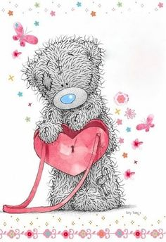 Florynda del Sol ღ☀¨✿ ¸.ღ Anche gli Orsetti hanno un'anima…♥ Tatty Teddy, Teddy Pictures, Bear Pictures, Cute Pictures, Teddy Beer, Kids Cartoon Characters, Blue Nose Friends, Bear Drawing, Bear Wallpaper