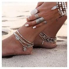 Vintage Multilayers Beaded Anklets for Women Bohemian Beach Feather Leaf Fish Beaded Foot Jewelry Gypsy Ankle Bracelet Anklet Bracelet, Anklet Jewelry, Gypsy Jewelry, Gypsy Rings, Yoga Bracelet, Beach Jewelry, Hair Jewelry, Vintage Jewelry, Beaded Foot Jewelry