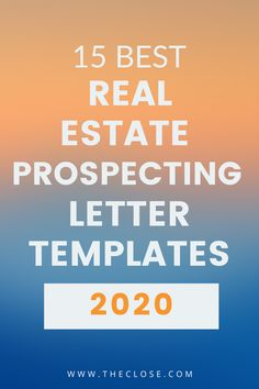 Creating a real estate prospecting letter template shouldn't be hard. Here are 15 of the best prospecting letter templates that you can use to grab your prospect's attention. Real Estate Slogans, Real Estate Quotes, Real Estate Career, Selling Real Estate, Real Estate Tips, Real Estate Sales, Real Estate Investing, Real Estate Marketing, Ing Words
