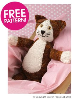 Knit your own cat with our latest free pattern! Available for a limited time only!