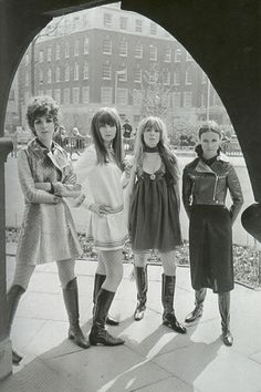 A Dandy In Aspic: Girlfriends of The Rolling Stones modelling for Ossie Clark, 1967