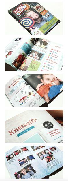 """gestaltung, layout und umsetzung der """"kleinen kinderzeitung – mein bastelheft"""" mit vielen tollen bastelideen und spielen für einen spannenden sommer Layout, Editorial Design, Magazine, Games, Playing Games, Summer Recipes, Basteln, Kids, Page Layout"""