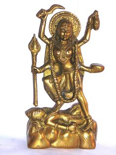 Goddess Kali 8 inch Bronze Sculpture Collectible Attractive Figurine Asia offered by rajcollections2013 on eBay.com