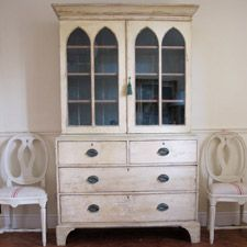 19th Cent English painted Bookcase (original paint)
