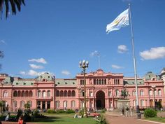 Pink Presidential Palace in Buenos Aires, Argentina